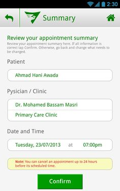 Mobile App: Saad Specialist Hospital on Behance Primary Care Clinic, Mobile App Design, Mobile Application, Health Care, Behance, Health