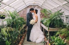 Bride and Groom in the greenhouse. Melissa & Devin {Married} Natchez, Mississippi » Patrick Remington Photography