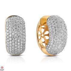 Ebay NissoniJewelry presents - Ladies' 2 1/3CT Diamond Hoop Earrings 14K Yellow Gold    Model Number:E7287PJ_Y477    http://www.ebay.com/itm/Ladies-2-1-3CT-Diamond-Hoop-Earrings-14K-Yellow-Gold/221630377063