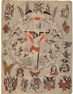 A tattooists interpretation of the Italian Renaissance. Note Christ tempted by…