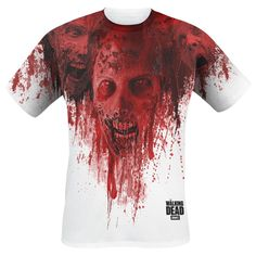 Walkers In Face Stain - T-Shirt by The Walking Dead