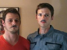 Daniel and Patrick Reed sport the cutout version of their father Robin Reed's signature mustache! The Roanoke Times printed the mustache in honor of Reed's 30th year at WDBJ. Check out more readers pics!