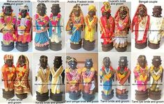 Marapachi dolls as different state bride and groom Different Styles, Bride Groom, Blouse Designs, Online Shopping, Dolls, Blog, Crafts, Stuff To Buy, Decorations