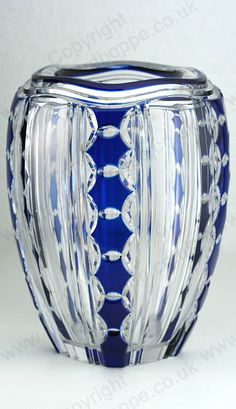 VINTAGE c.1930s VAL ST. LAMBERT BLUE OVERLAY PIETRO CRYSTAL VASE BY JOSEPH SIMON. This item is sold. To visit my website to see what's in stock click here: http://www.richardhoppe.co.uk or for help or information email us here: info@richardhoppe.co.uk
