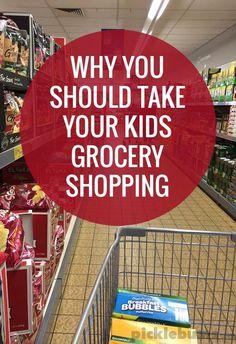 Six reasons you should take your kids grocery shopping...