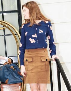 Gwyneth Blouse WA668 Long Sleeved Tops at Boden