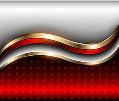 Curva de fondo vector dinámico plata rojo