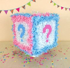 Gender Reveal Cube Hit Pinata Baby Shower by LaLasParty on Etsy