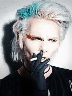 Punk Hairstyles for Men - HerrenMode Punk Makeup, Male Makeup, Makeup Art, Photo Makeup, Make Up Looks, Faux Hawk, Beauty Photography, Fashion Photography, Galaxy Makeup