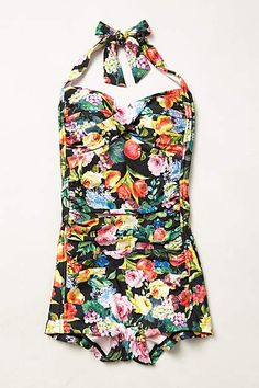 Seafolly Summer Garden Boyleg Maillot - anthropologie.com