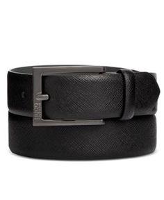 348fea0f16e Hugo Boss Men s C-Grasos Leather Belt - Black 42 Cintos Masculinos
