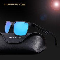 Mens MERRY'S 2016 Aluminum Magnesium Polarized Sunglasses Men