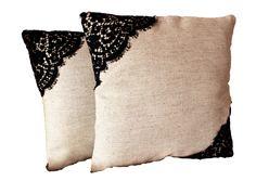 Lace & Linen Cushion Covers | L'Essenziale Boutique