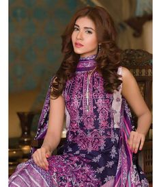 Signature Icon Embroidered Lawn Collection 2016 ZS_10B