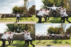This is the groomsmen shot Brian would do... all doing a back flip together!  :)