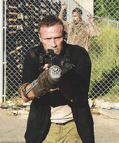 """MICHAEL ROOKER AS MERLE DIXON ~ AT THE PRISON AND PROTECTING DARYL'S  """"FAMILY""""  THERE."""