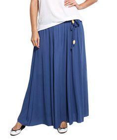 Another great find on #zulily! Indigo Tie-Waist Maxi Skirt - Plus by Zer Otantik #zulilyfinds