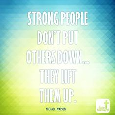 This is how we define strength | QOTD | Quote | Michael Watson | Face Forward