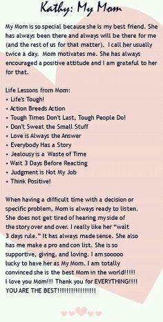 My mother xo