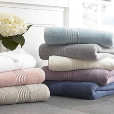 These Luxury Modal bath towels are named for their blend of modal and cotton pile, making them exceptionally soft and smooth to touch. Crafted in Turkey, each towel features the style of an elegant border design and the classic comfort of a weight. Monogram Towels, Turkish Bath Towels, Color Balance, Bath Sheets, Border Design, Design Design, Luxury Bath, Bathroom Towels, Bath Decor