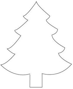 christmas tree cut out template on fabric and cut out the