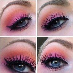 Pink and Orange Happy Eyes Make-up Tutorial
