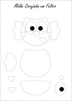 Znalezione obrazy dla zapytania mimos em feltro e moldes que encontro na net Easter Crafts For Toddlers, Easy Easter Crafts, Animal Crafts For Kids, Toddler Crafts, Diy For Kids, Felt Animal Patterns, Owl Patterns, Felt Crafts Diy, Felt Diy