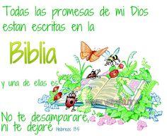 Todas las promesas de mi Dios estan escritas en la Biblia