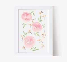 Watercolor Painting Watercolor Picture Pink Roses Watercolor