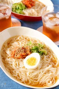 Somen Noodles - This delicious noodle restaurant's cold noodle style. It's a menu of some with excellent compatibility between fresh and refreshing and Sushi Recipes, Asian Recipes, Dinner Recipes, Healthy Recipes, Orange Recipes, Veggie Recipes, Ethnic Recipes, Easy Cooking, Cooking Recipes