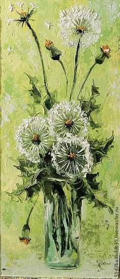 floralart.quenalbertini: Flowers in a vase - Artist unknown