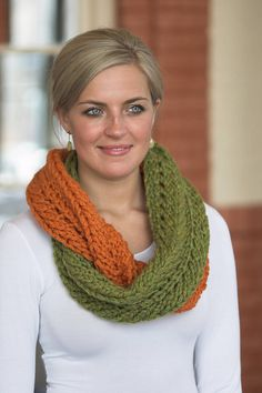 Free Pattern: F368 DeAire Infinity Scarf by Plymouth Yarn Design Studio