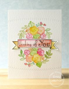 Card by PS DT Emily Leiphart using PS Blossoming Buds, Blissful Banners