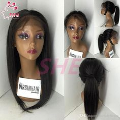 free shipping, $69.95/piece:buy wholesale  high quality lace front ponytail wigs silky straight glueless brazilian lace wig virgin cheap human hair full lace wig for black women can custom u part wig and silk top wig,130% density stock,150% 180% avaliable,pure color on sheladyhouse's Store from DHgate.com, get worldwide delivery and buyer protection service.