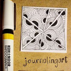 My first 2X2 ( #bijou )tile! Use a #radiograph .30. The art of #zentangle takes a lot more focus than my usual #doodling #lovingzentangleart as my new #arttherapy #tangle #tangleart