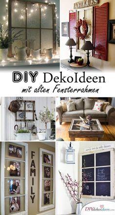Stunningly beautiful DIY wall decor ideas from old window frames - Decorationcom Old Window Frames, Diy Wall Decor, Home Decor, Stunningly Beautiful, Fun Crafts, Gallery Wall, New Homes, Windows, Interior