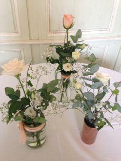 Fleurs mariage rose