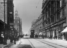 The old streets of Glasgow.