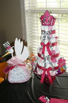 Hot Pink and Zebra print Baby Shower! Fun Fun!!