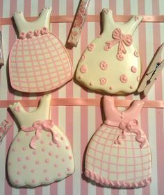 Pink Dresses Decorated Sugar cookies