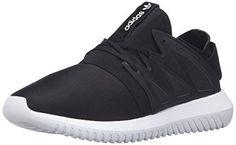 adidas Originals Women's Tubular Viral W Fashion Sneaker, Black/Black/White, 7.5 M US