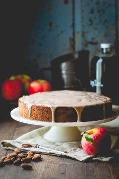 Maple Apple Almond Cake | Fall | Dessert | Cinnamon | Baking | Holiday | Healthy Seasonal Recipes