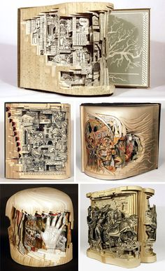 Amazing book sculptures (via http://weburbanist.com/2012/04/13/book-art-31-sculptures-worth-reading-about/)
