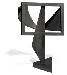 841/899 - Robert Jacobsen: Concrete sculpture, 1952. Signed R.J. Black painted iron. H. 32 cm.