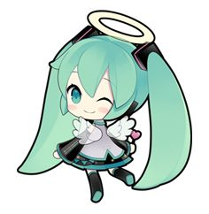 "Virtual idol ""Hatsune Miku"" debuts on LINE! Hip & cute Hatsune Miku stickers illustrated by ""putidevil"" are now available! Anime Chibi, Kawaii Anime, Kawaii Chibi, Cute Chibi, Manga, Vocaloid Funny, Miku Chan, Mikuo, Mermaid Melody"