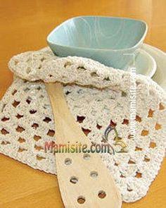 Granny's Square Dishcloth | FaveCrafts.com