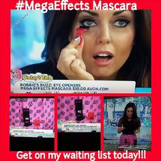Did you catch @Bobbie Mitchell Mitchell Thomas #beautybuzz on the @Teresa Selberg O'Day?? Well #Avon innovative mascara was one of her #eyeopeners!!! Can't wait to get your hand on it? Well go to my facebook page to sign up on my waiting list!!! Yes we are doing it big!!! Be the first to know when it will be available to you!! #Megaeffects #Avonrep #Makeupmaven #mascaraaddiction #makeupjunkie #mascaraaddict www.youravon.com/MistieMasters