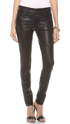 MOTHER The Muse Vegan Leather Pants Sold at Revolve MOTHER skinny pants in slick faux leather. Button closure and zip fly. Leder Outfits, Black Leather Pants, Vegan Fashion, Winter Wear, Skinny Pants, Vegan Leather, Luxury Fashion, Size 12, Muse