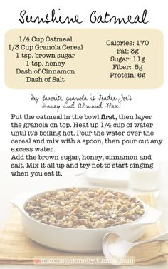 Sunshine oatmeal