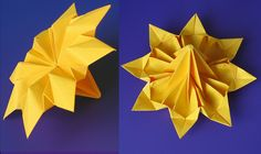 Flower Octopetalus.Origami from one uncut square of copy paper, 21 x 21 cm. Designed and folded by Francesco Guarnieri, September 2010. CP: http://www.flickr.com/photos/f_guarnieri/5672536797/